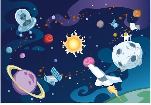 Cartoon galaxy