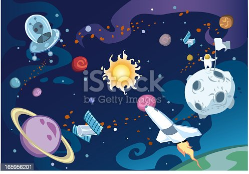 istock Cartoon galaxy 165956201
