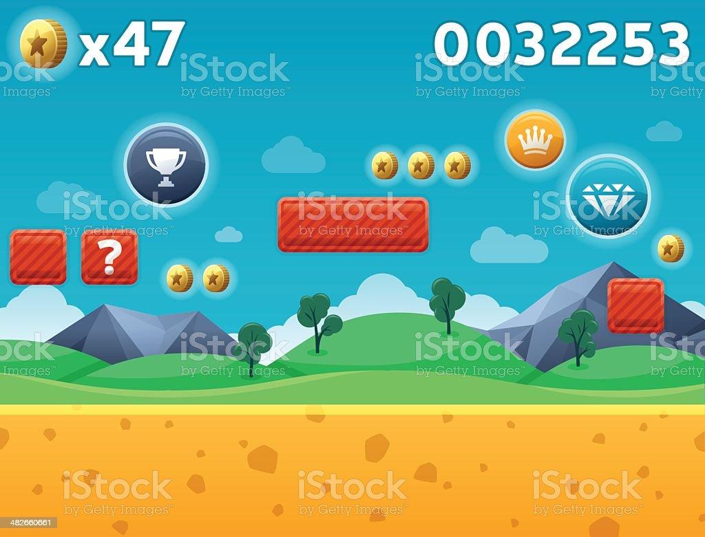 カットイラストゲームの背景 のイラスト素材 482660661 | istock