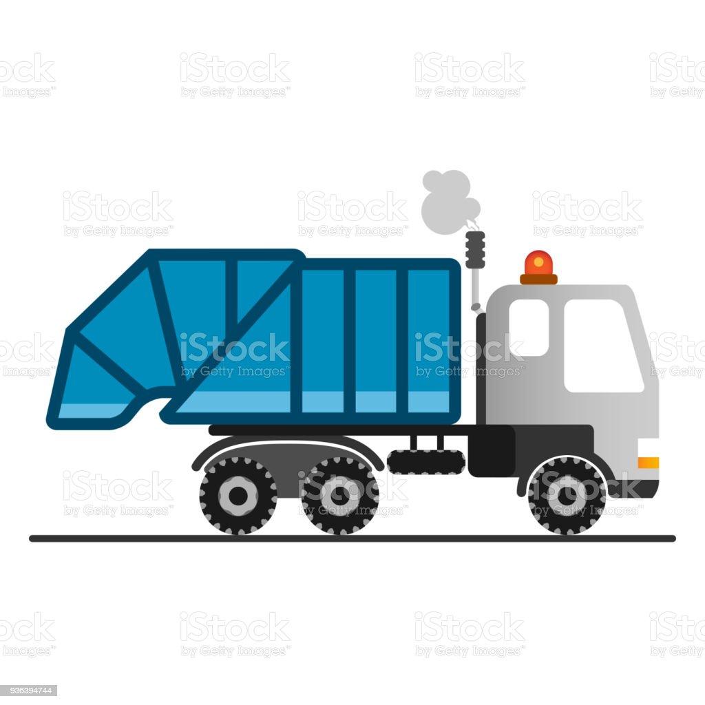 Camion Poubelle De Dessin Animé Sur Fond Blanc Vecteurs Libres De Droits Et Plus D Images Vectorielles De Affaires