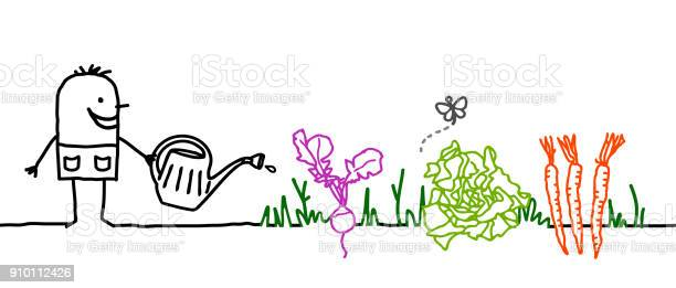Cartoon gardener watering vegetables vector id910112426?b=1&k=6&m=910112426&s=612x612&h=dtq3qrowikpluc6uh 7dy5euahctga6qss  hu9r0g8=