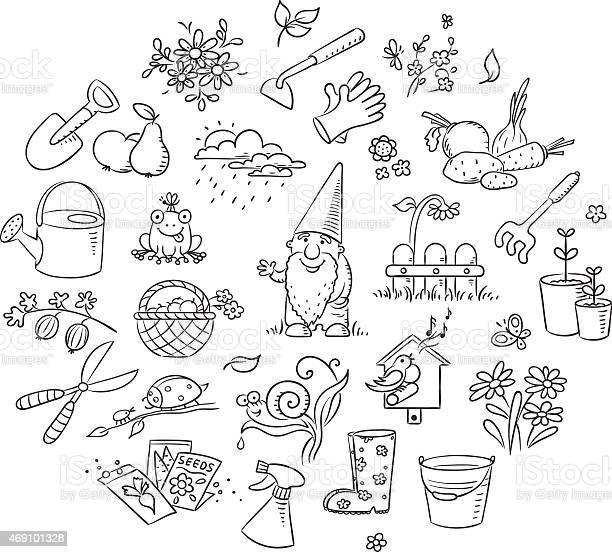 Cartoon gardening set black and white vector id469101328?b=1&k=6&m=469101328&s=612x612&h=vs043 rtda5dhmami9fnto6kondss8d7v8heuxr1jjm=