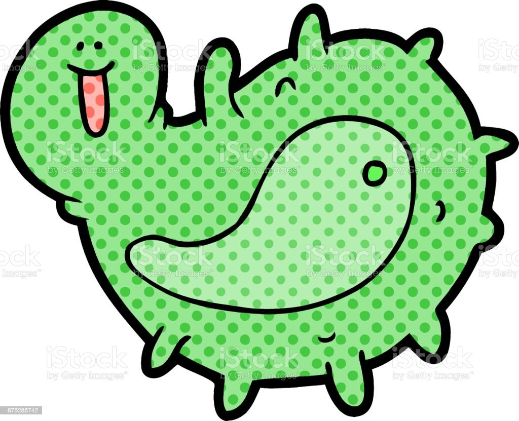 cartoon germ vector art illustration