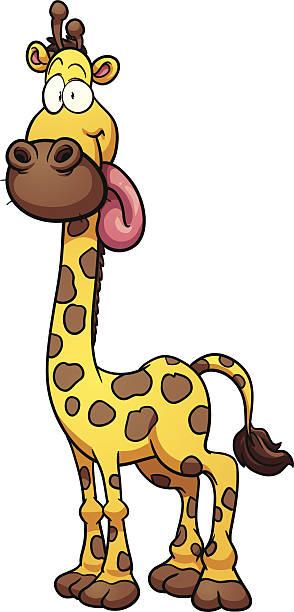 Royalty Free Giraffe Tongue Clip Art, Vector Images ...