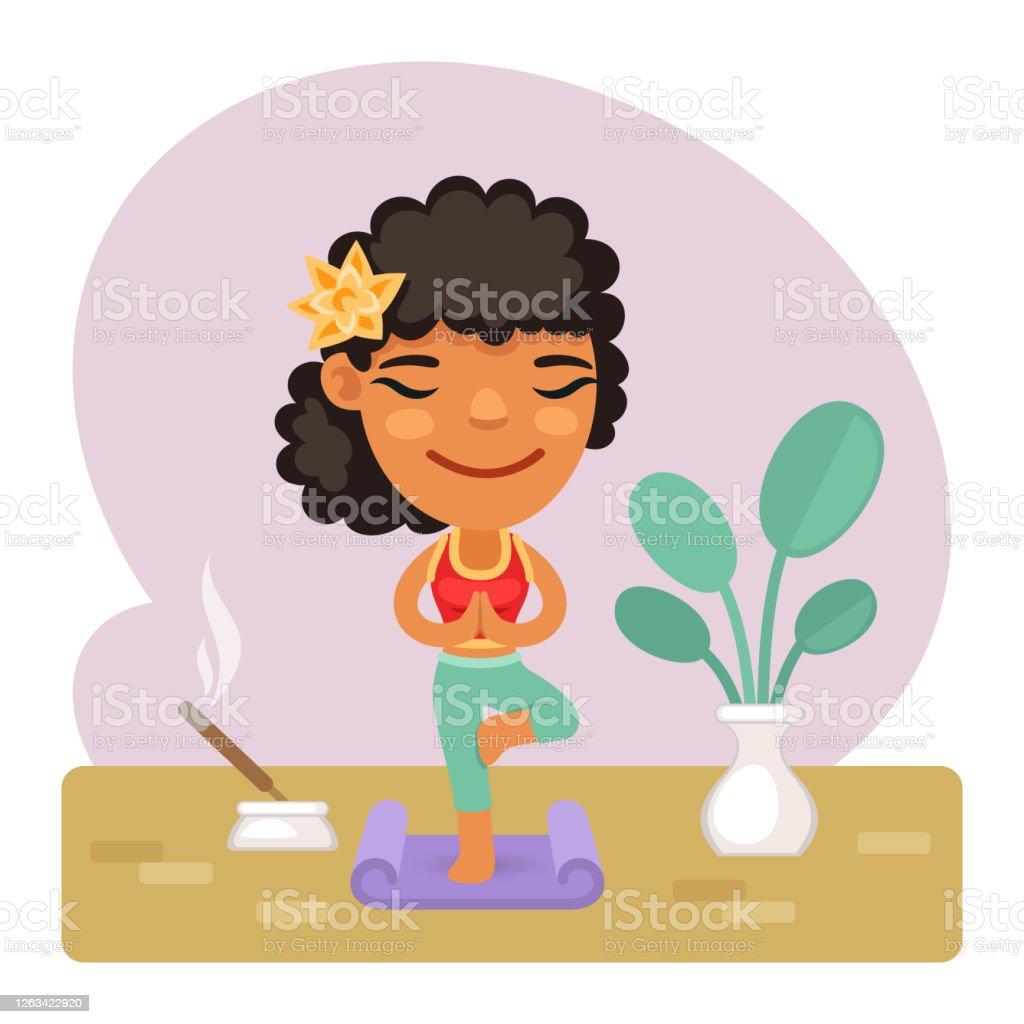 Cartoon Girl Doing Yoga Vrikshasana Tree Pose Stock Illustration Download Image Now Istock Download and share yoga tree pose illustration, cartoon. https www istockphoto com vector cartoon girl doing yoga vrikshasana tree pose gm1263422920 369803125