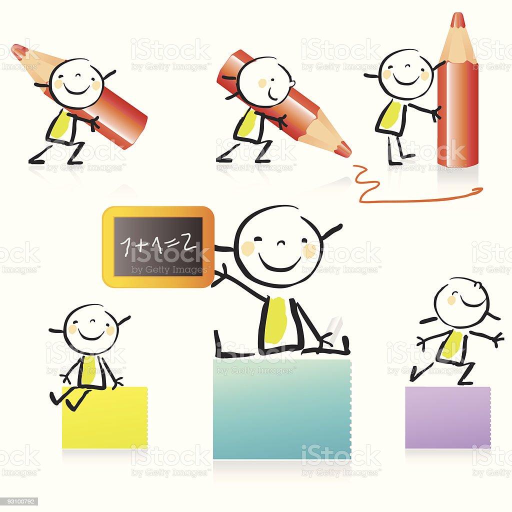 cartoon girl icon set royalty-free cartoon girl icon set stock vector art & more images of art
