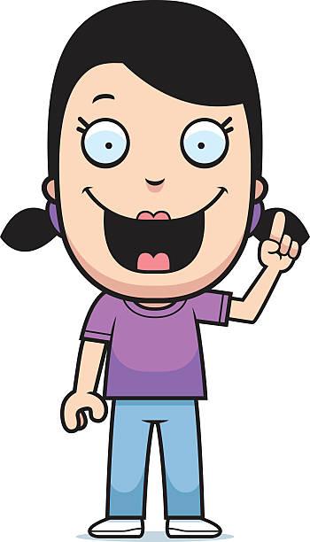 illustrations, cliparts, dessins animés et icônes de dessin de fille idée - enfants de bande dessinée