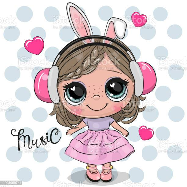 Cartoon girl in a pink dress and headphones vector id1205969744?b=1&k=6&m=1205969744&s=612x612&h= v4z38hd8oqrkczluu8qvuyvkwaojcmul tpmdtmms8=