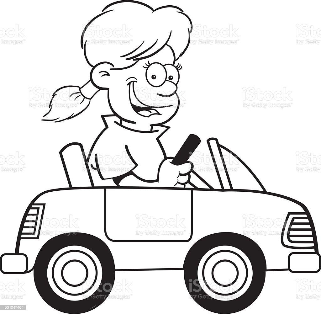 dessin de fille dans une petite voiture cliparts vectoriels et plus d 39 images de cartoon. Black Bedroom Furniture Sets. Home Design Ideas