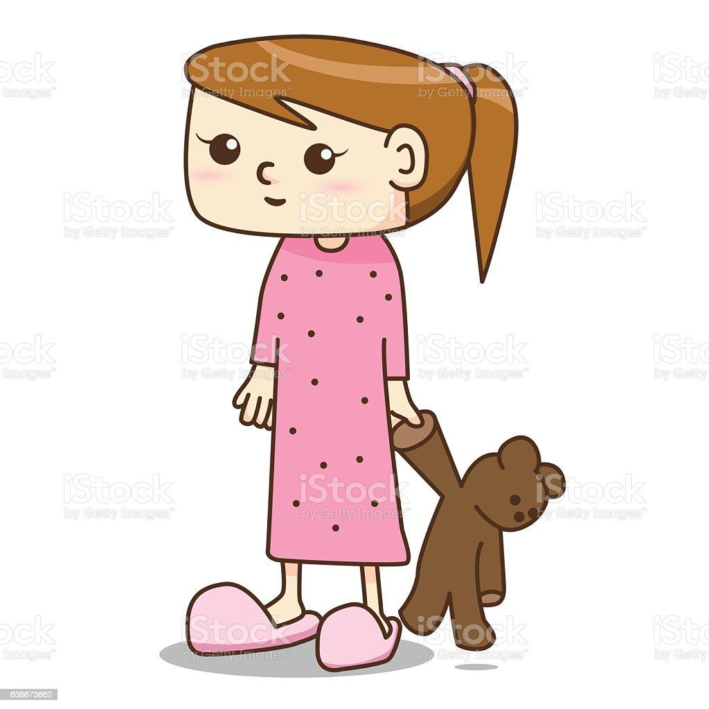 royalty free woman pajamas clip art vector images illustrations rh istockphoto com holiday pajamas clipart holiday pajamas clipart