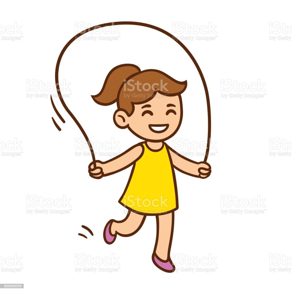 Cartoon Girl Jumping Rope Stock Illustration Download Image Now Istock