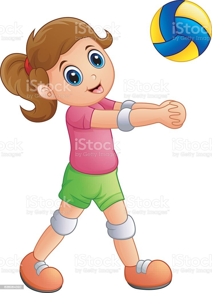 girls volleyball clip art image collections