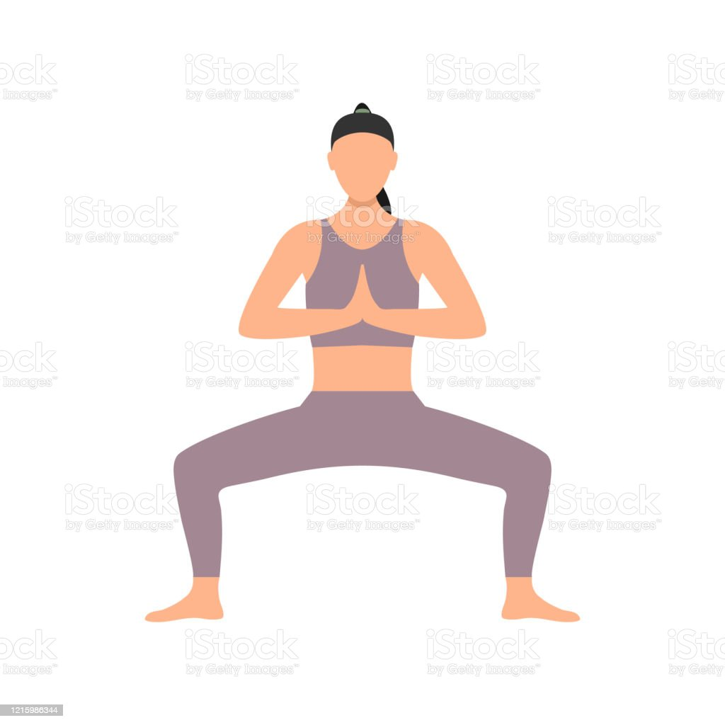 Cartoon Girl Practicing In Yoga Pose Stock Illustration Download Image Now Istock