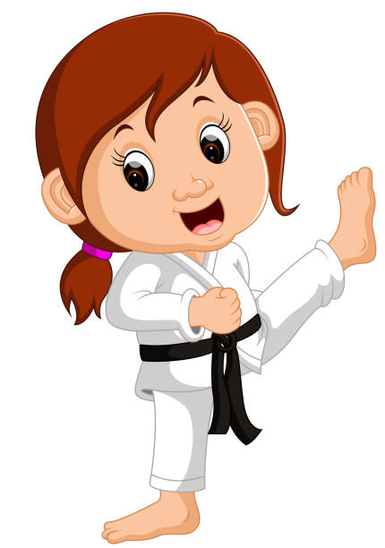 Royalty free judo woman clip art vector images