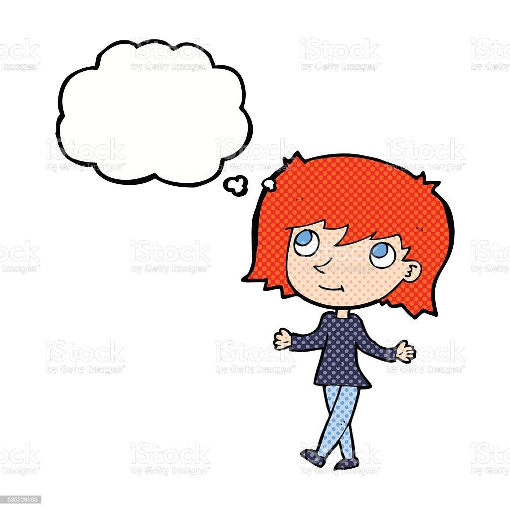 漫画にもご安心な女性思考の吹き出し付き - いたずら書きのベクター