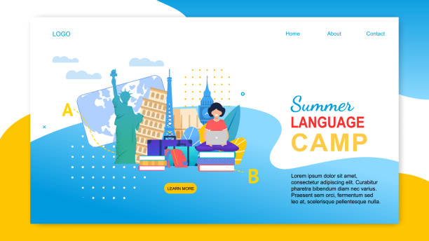 illustrazioni stock, clip art, cartoni animati e icone di tendenza di cartoon girl with notebook learn languages abroad - spagnolo lingua