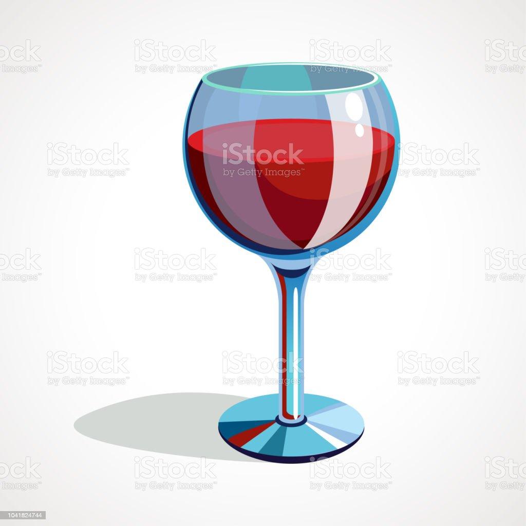Verre De Vin Rouge De Dessin Animé Illustration Vectorielle Vecteurs libres de droits et plus d'images vectorielles de Abstrait