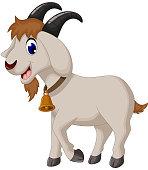 cartoon goat smiling
