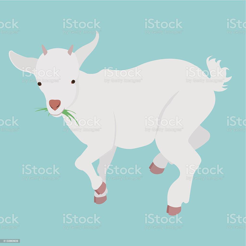 cartoon goat vector art illustration