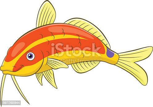 Cartoon Goatfish Stock Vector Art & More Images of Animal 597265944
