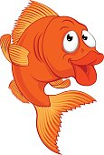 Cartoon Gold Fish or Gold Fish Character