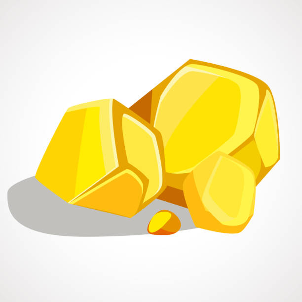 Cartoon gold stacked pile The cartoon gold stacked pile. Vector element ingot stock illustrations