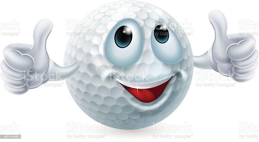 Comic Golf Ball Charakter Stock Vektor Art und mehr Bilder von Auge ...