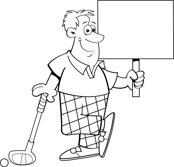 Best Golf Funny Illustrations, Royalty-Free Vector