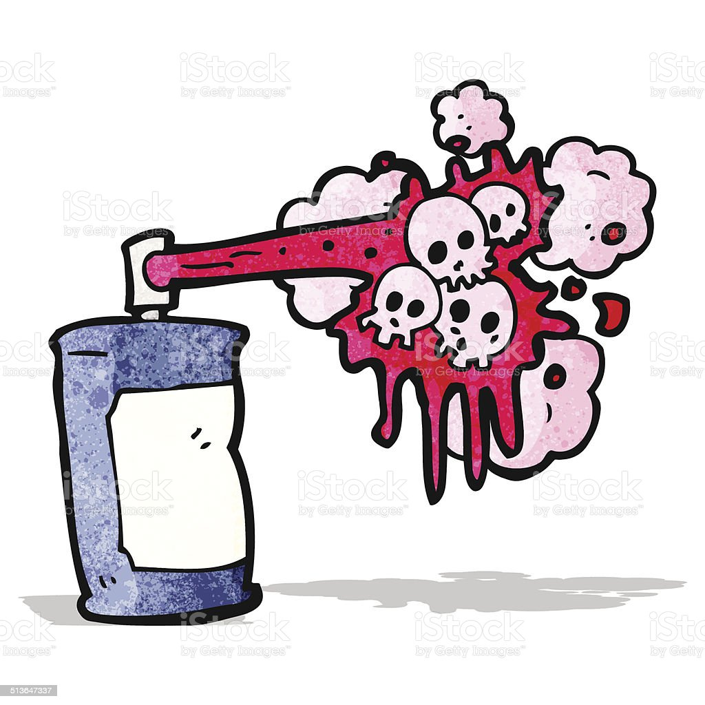 Dessin De Crane De Graffiti Bombe De Peinture Cliparts Vectoriels