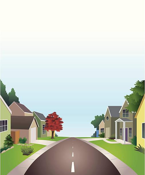 ilustrações de stock, clip art, desenhos animados e ícones de neighborhood - driveway, no people