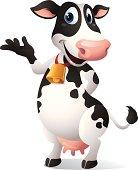 Cartoon graphics of Cow