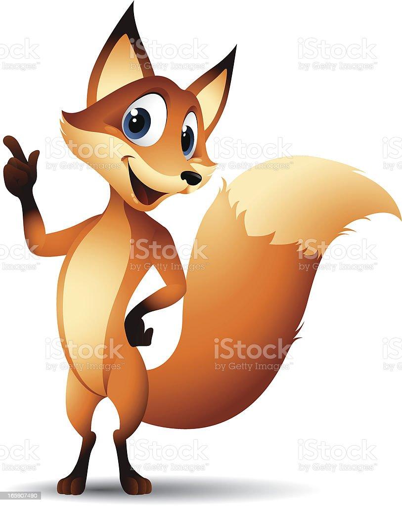 Gráficos de historieta de fox - ilustración de arte vectorial