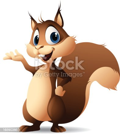 - cartoon illustration of a squirrel
