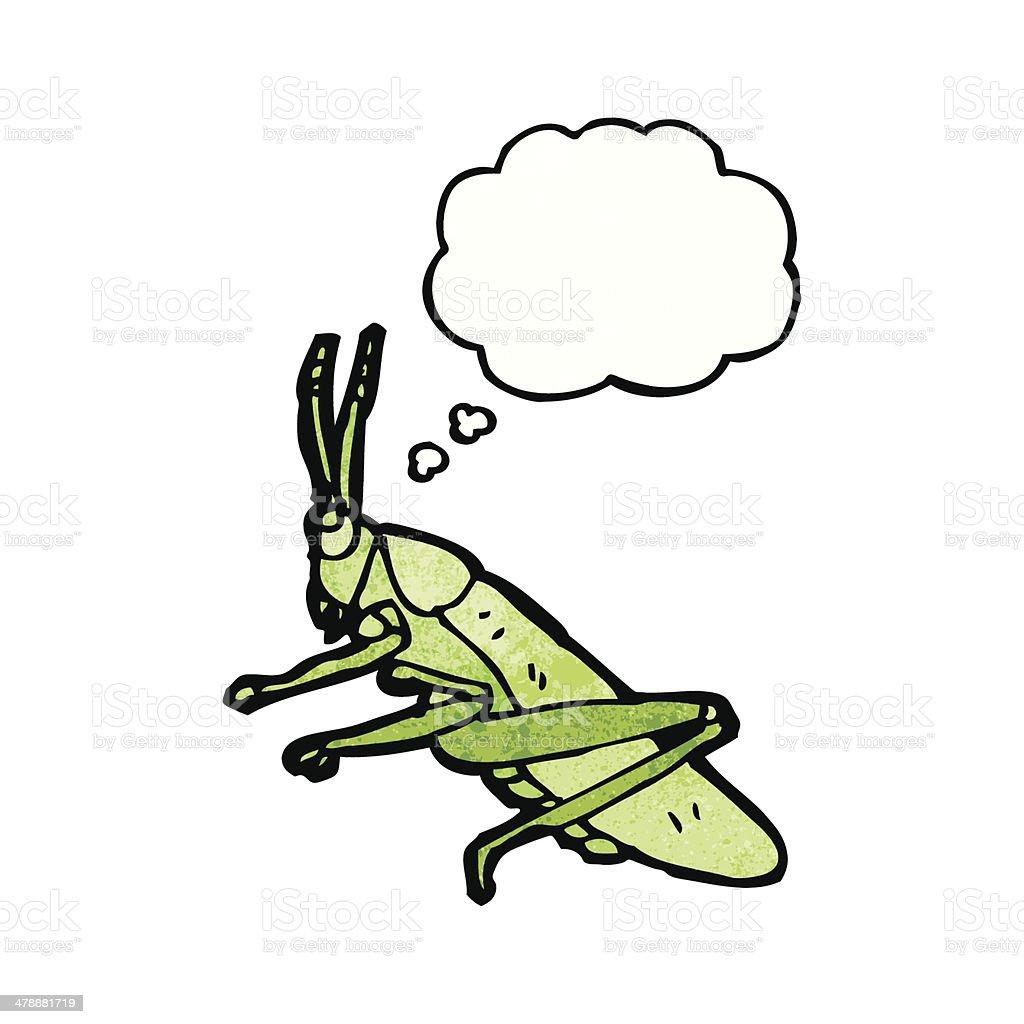cartoon grasshopper royalty-free stock vector art