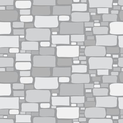 Cartoon gray stone wall background