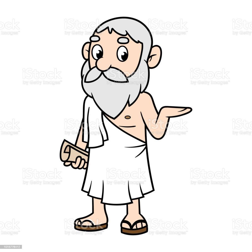 Cartoon Greek Philosopher Stock Illustration - Download ...