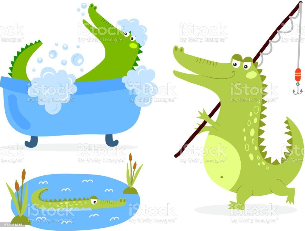 Cartoon vert crocodile predator drôle la faune australienne river reptile alligator plat vector illustration cartoon vert crocodile predator drôle la faune australienne river reptile alligator plat vector illustration – cliparts vectoriels et plus d'images de afrique libre de droits