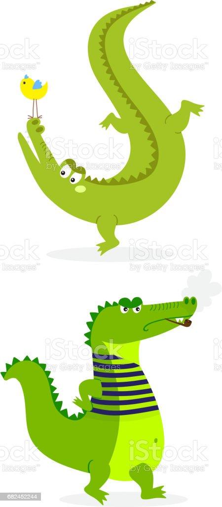 Cartoon green crocodile funny predator australian wildlife river reptile alligator flat vector illustration royalty-free cartoon green crocodile funny predator australian wildlife river reptile alligator flat vector illustration stock vector art & more images of africa