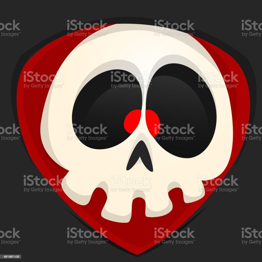 Cartoon Grim Reaper Face Avatar Cute Vector Face Of Cartoon Skull
