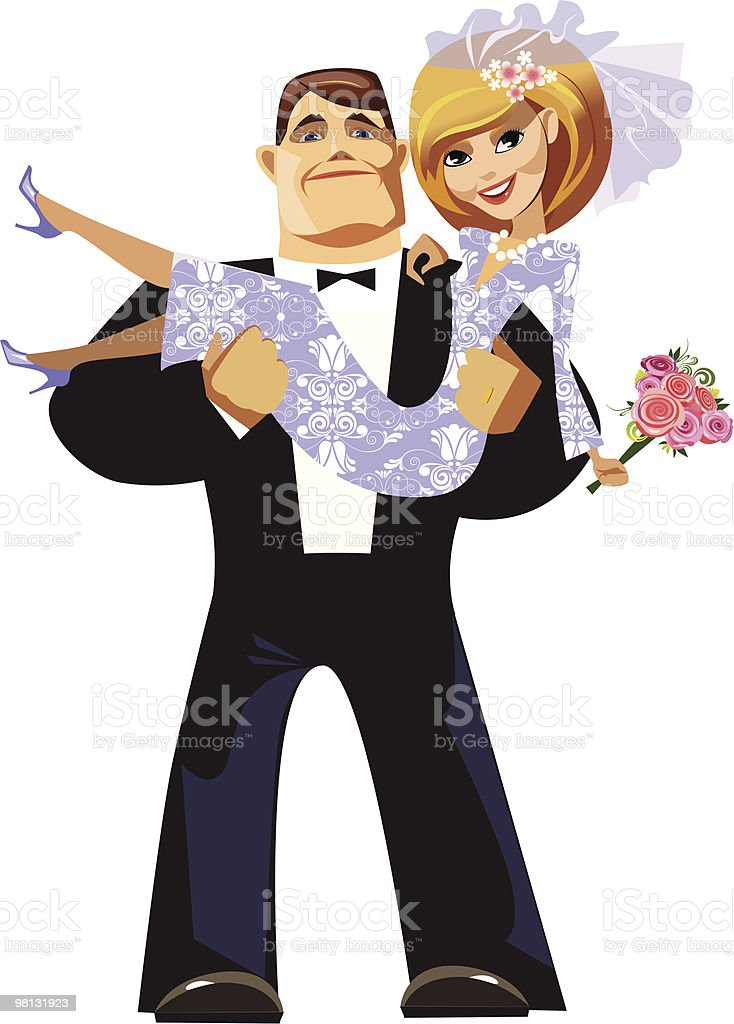 cartoon groom and bride royalty-free cartoon groom and bride stock vector art & more images of adult