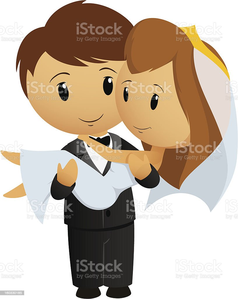 Cartoon groom carrying bride holding her in his arms royalty-free cartoon groom carrying bride holding her in his arms stock vector art & more images of adult