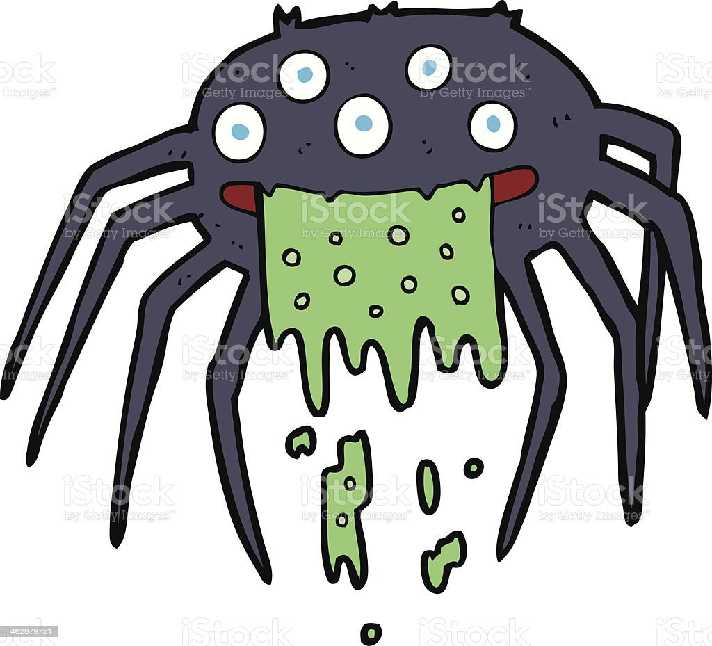 Ilustración de Araña Bruto De Halloween De Dibujos Animados y más ...