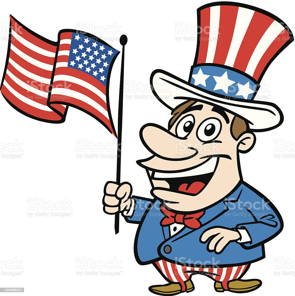 cartoon guy as uncle sam stock vector art more images of adult rh istockphoto com uncle sam vector free download uncle sam vector image