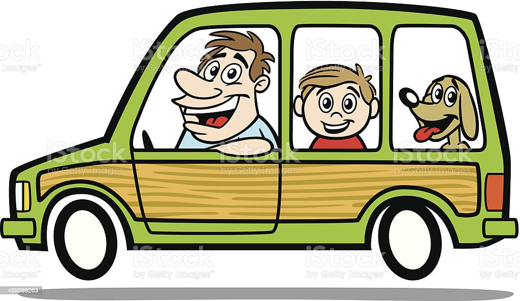royalty free dad minivan clip art vector images illustrations rh istockphoto com  cartoon moving van clipart