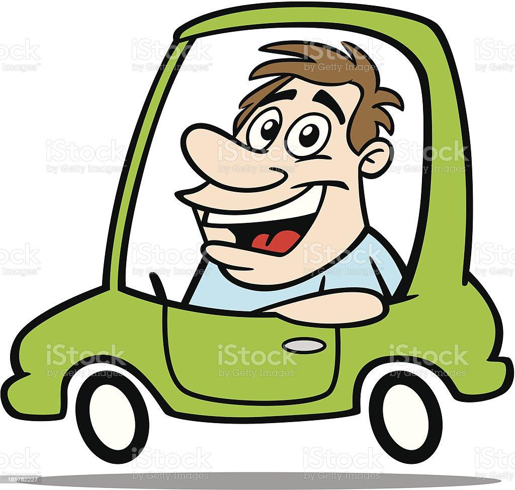cartoon guy driving car stock vector art 165762227 istock