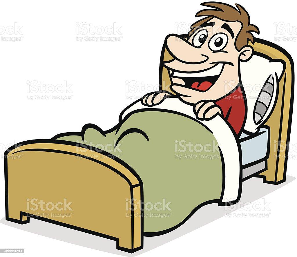 Comic Mann Im Bett Stock Vektor Art Und Mehr Bilder Von Aufwachen