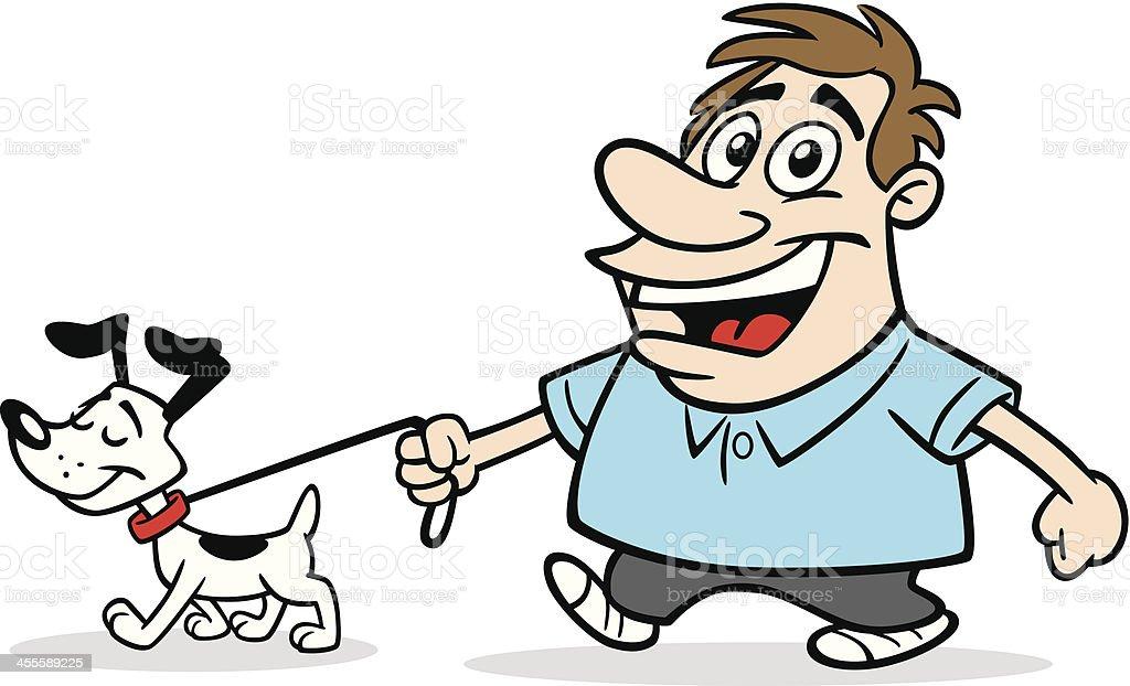 Comic Mann Mit Hund Stock Vektor Art und mehr Bilder von Comic ...
