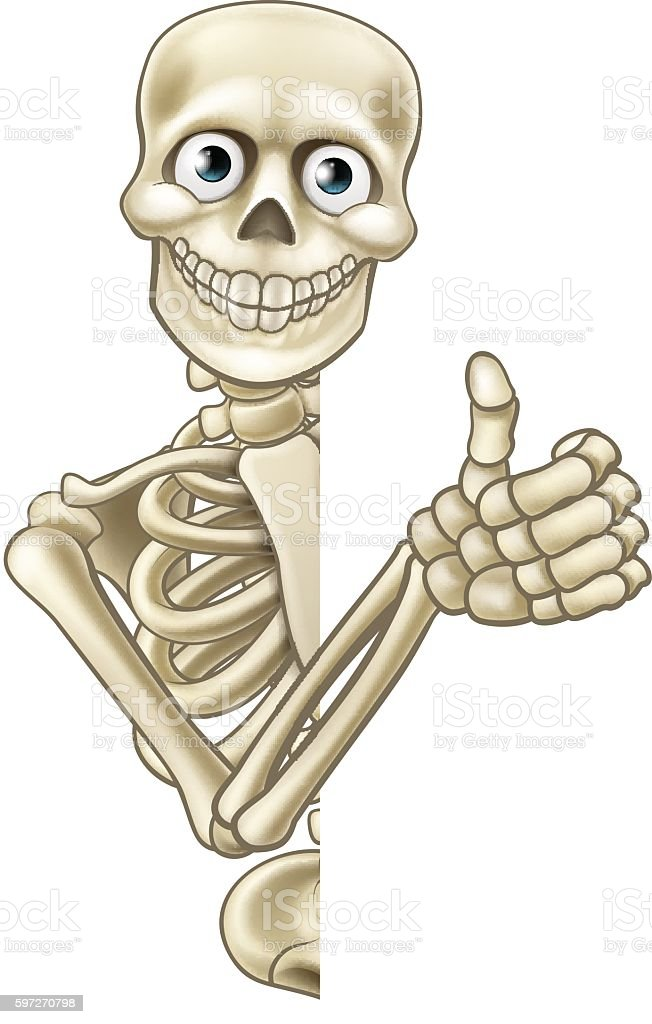 Cartoon Halloween Skeleton Thumbs Up Lizenzfreies cartoon halloween skeleton thumbs up stock vektor art und mehr bilder von anatomie