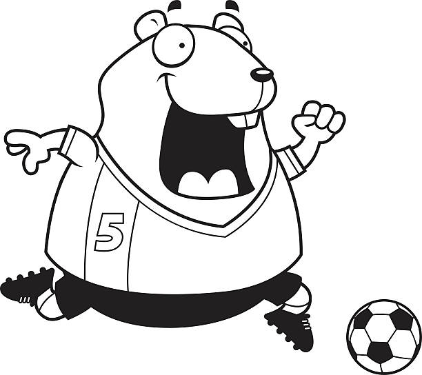 Outline Clipart of a Cartoon Black and White Chubby ...  |Hamster Ball Clipart