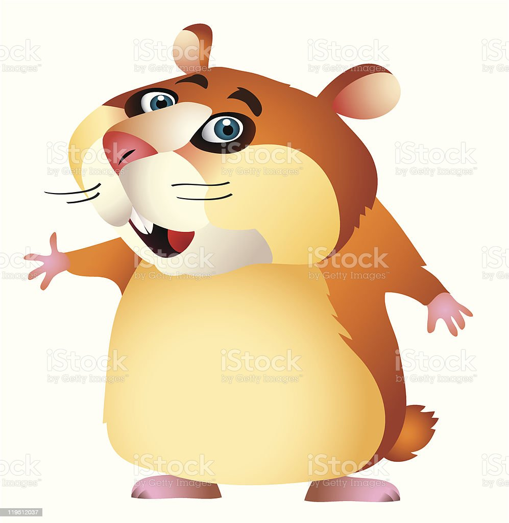 cartoon hamster stock vector art more images of animal 119512037